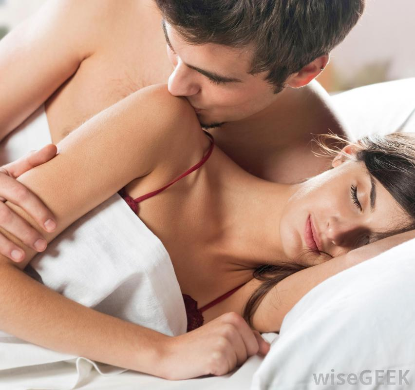 Share girls legs over mans shoulders kissing porn